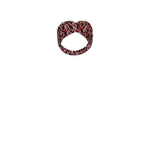 IZBA rouge graphic print headband