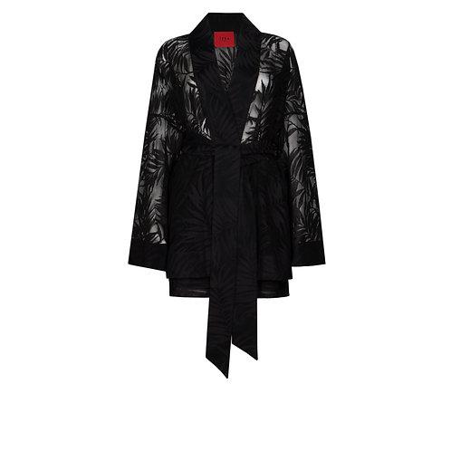 IZBA rouge кимоно с шортами из черного кружева