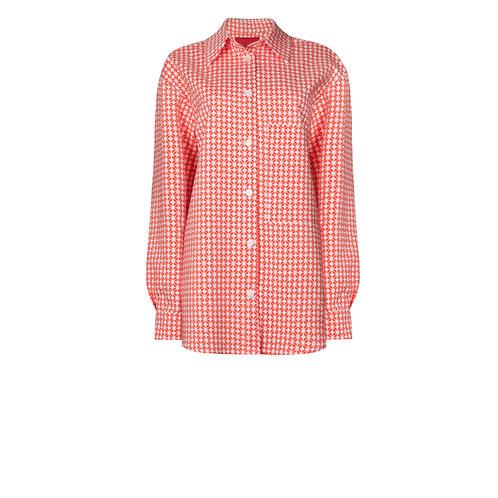 IZBA rouge graphic print jacquard shirt
