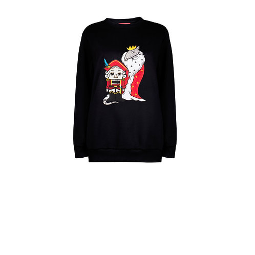 IZBA rouge new year collection black sweatshirt with embroidery