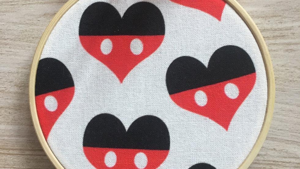 Tambour cercle Mickey Disney Cœurs