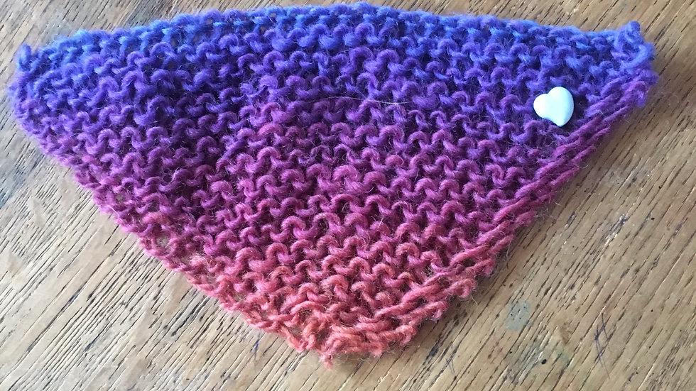 Châle en laine pour barbie dégradé bleu violet
