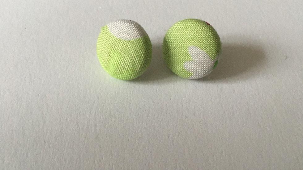 Boucles d'oreilles Clous Vert anis