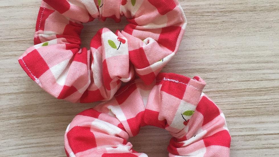 Chouchou fantaisie cerises rouges