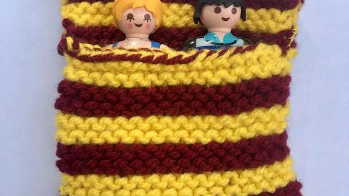 Sac de couchage playmobile en laine Harry Potter Griffon d'or