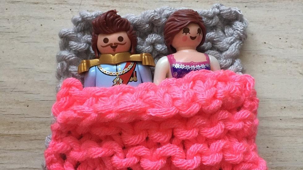 Sac couchage Playmobile rose et gris