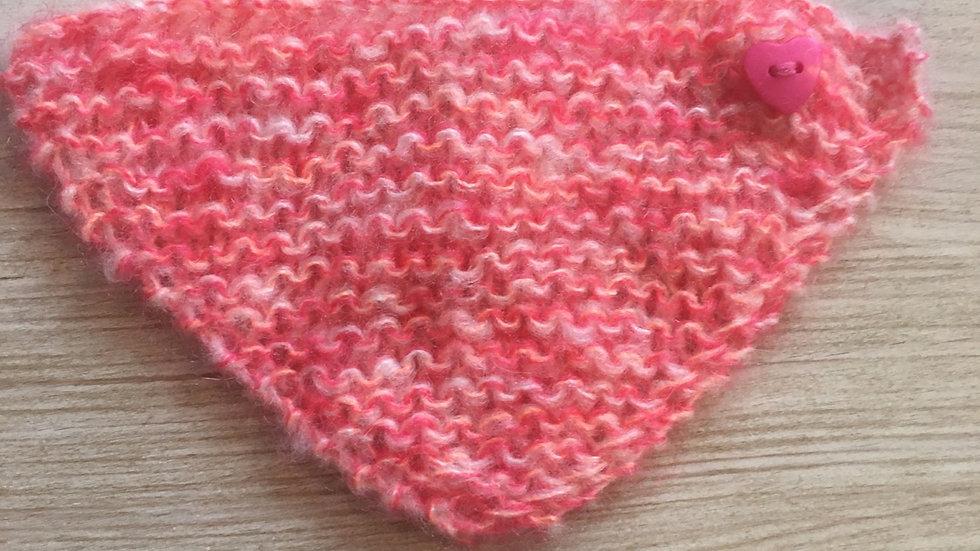 Châle en laine pour pour Barbie rose orangé