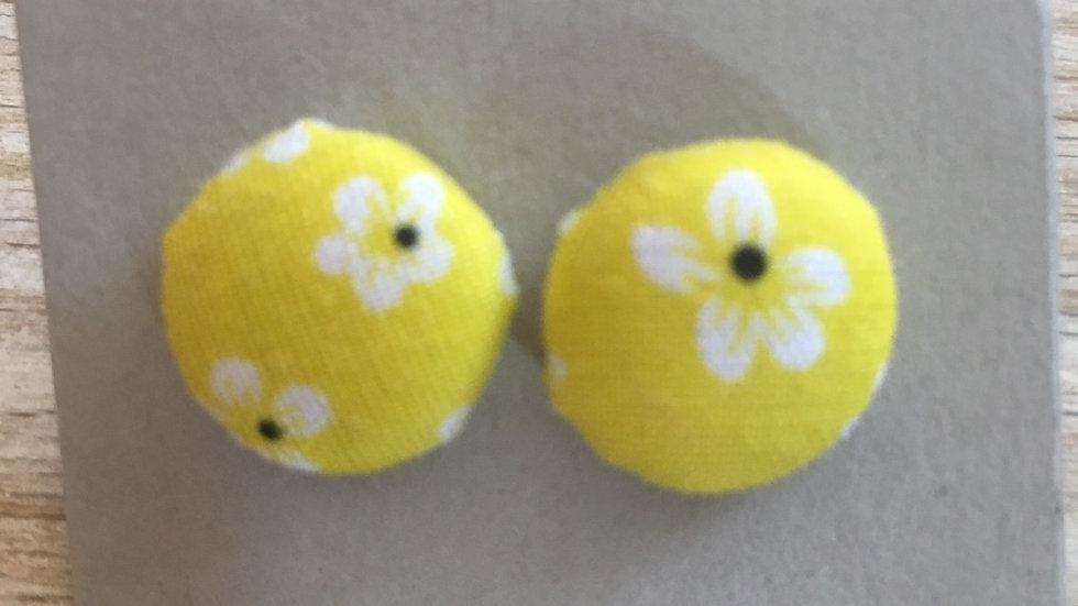 Boucles d'oreilles Clous jaune petites fleurs