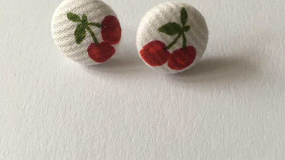 Boucles d'oreilles Clous Cerises doubles