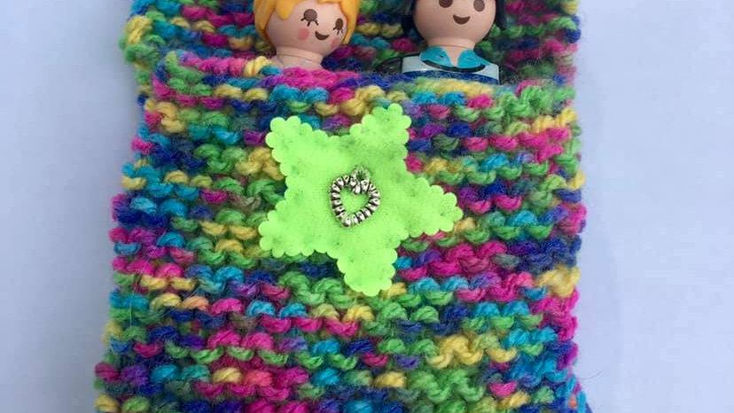 Sac de couchage playmobile en laine multicouleurs