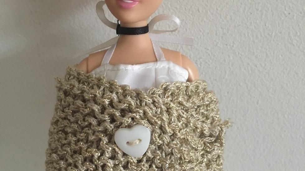 Châle en laine or pour Barbie