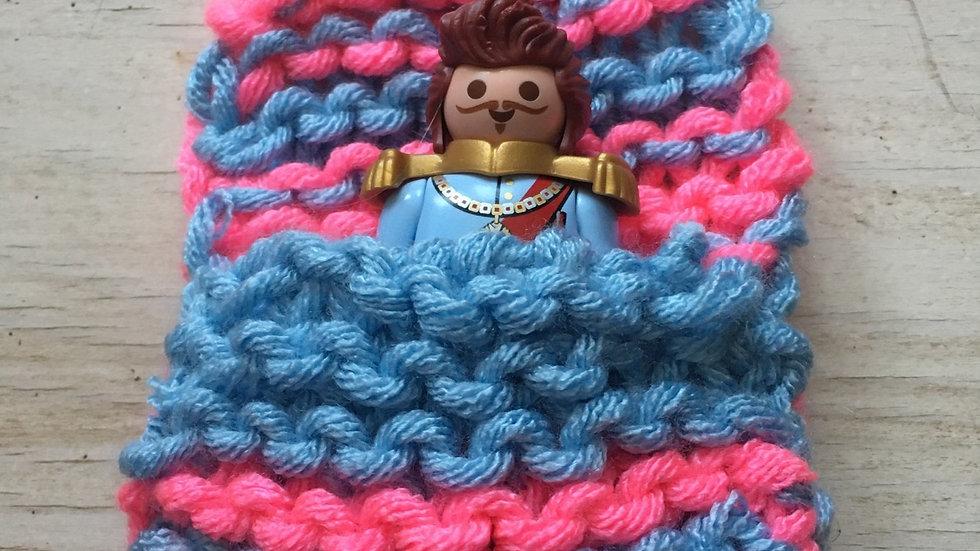 Sac couchage 1 Playmobile bleu et rose