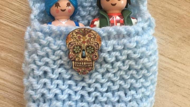 Sac couchage Playmobile bleu clair tête de mort