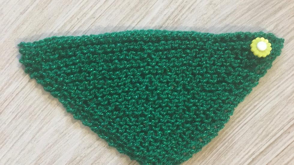 Châle en laine pour poupée Barbie vert pailleté
