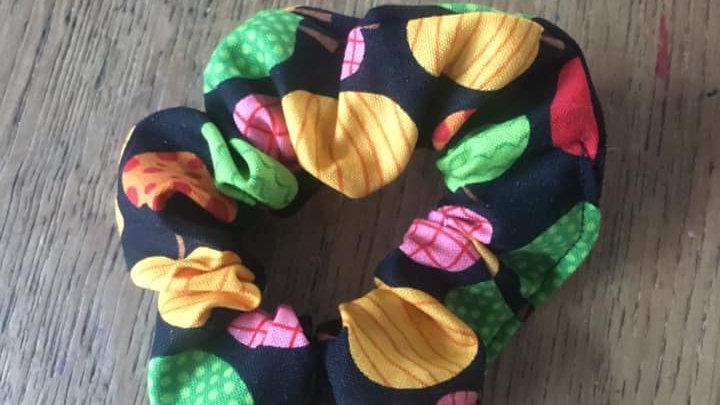 Chouchou Noir pommes colorés