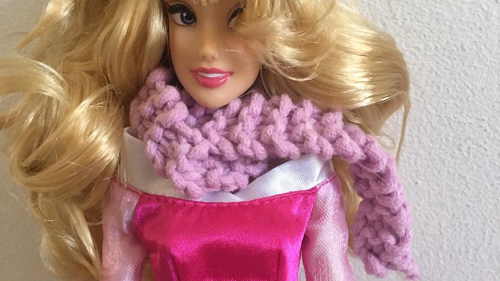 Écharpe fine en laine violette poupée Barbiee