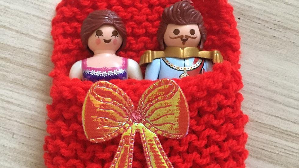 Sac couchage Playmobile Rouge petit noeud