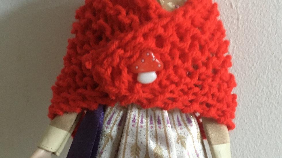 Châle en laine pour barbie rouge