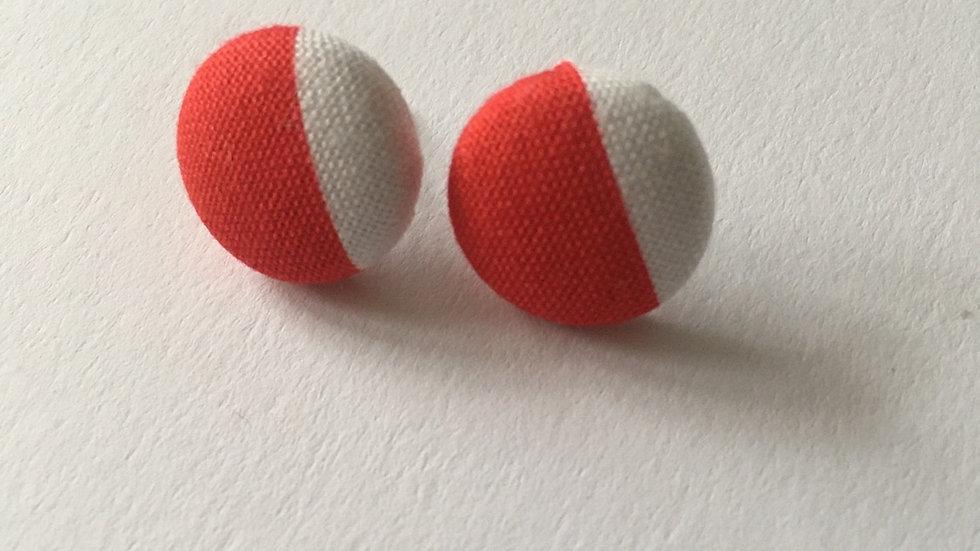Boucles d'oreilles Clous Rouges et Blanches