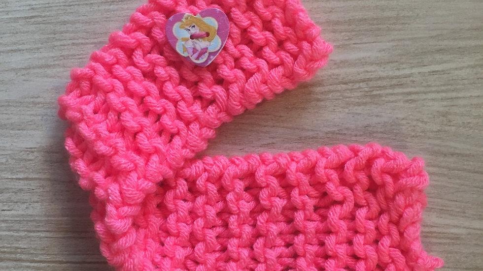 Étole rose fluo en laine poupée Barbie princesse Aurore Disney