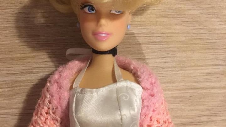 Cache-épaules en laine pour barbie rose pâle