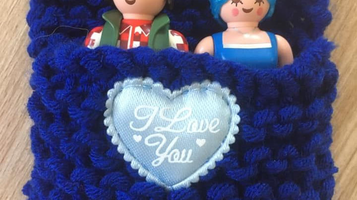 Sac couchage Playmobile bleu foncé I Love You
