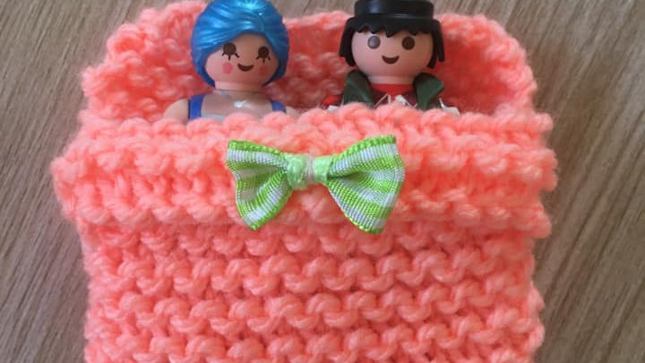 Sac couchage Playmobile Orange Fluo en laine