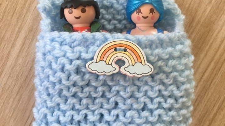 Sac couchage Playmobile bleu clair arc en ciel
