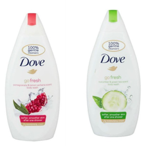 Dove dusjsåpe, Fresh Touch, 500 ml - kartong 6 stk