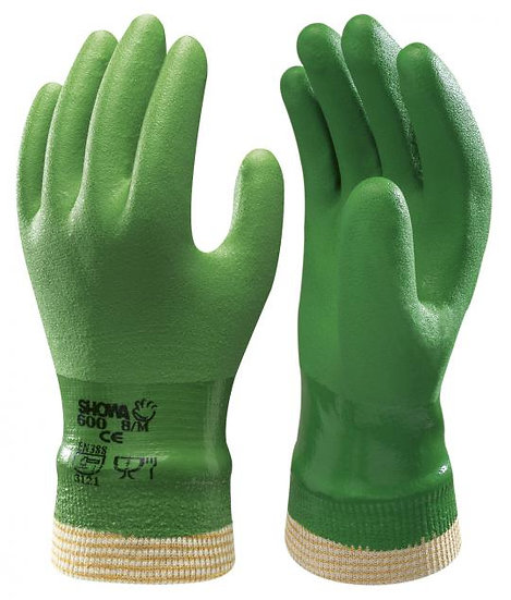 PVC hanske med ribb - 1 par
