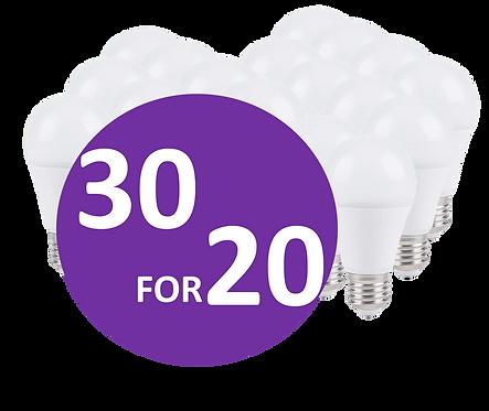 30 for 20 LED pærer