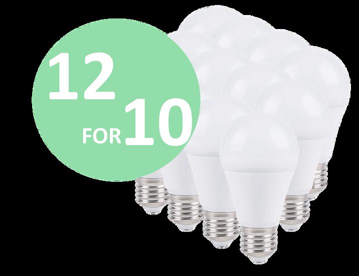 12 for 10 LED pærer
