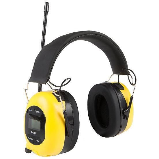 Pop@work hørselvern med DAB+ (gul)
