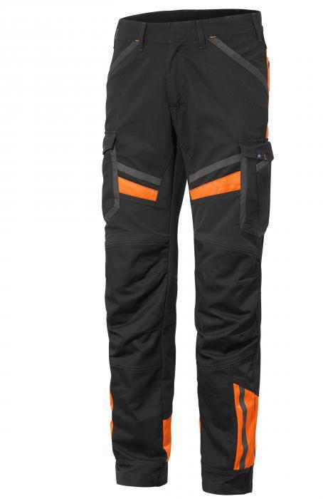 Bukse i stretch med synlighetsdetaljer og lårlomme Teknik II