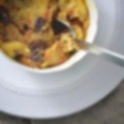 Hard Spiced  Apple cider bread pudding f