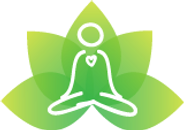 logo with lotus and meditator