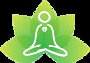 logo with lotus and meditator