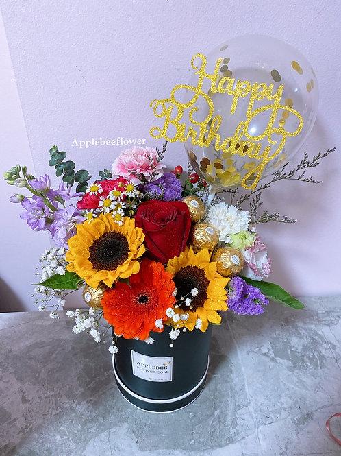 Bloom Box Fresh Sunflowers Balloon