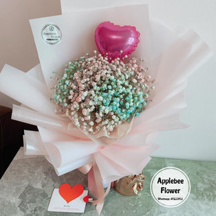 $65 Baby Breath Bouquet- 2tone