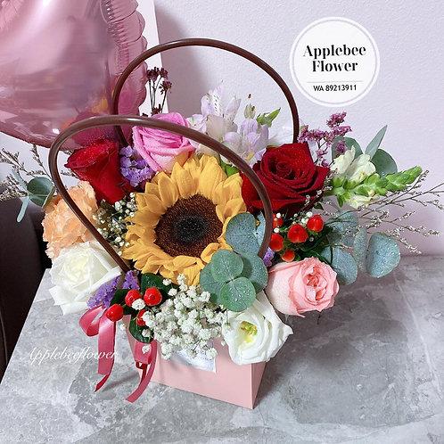Sunflower & Rose Bloom Box