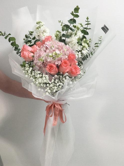 HYDRANGEA & ROSE -PINK