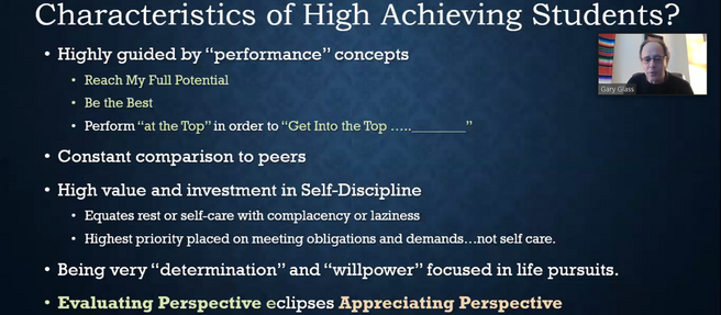 How to Help High Achieving, Unhappy Students
