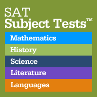STRESSED ABOUT TAKING SAT SUBJECT TESTS?  THIS LIST MIGHT HELP YOU RELAX.