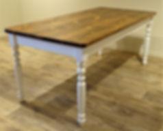 Oude grenen tafel