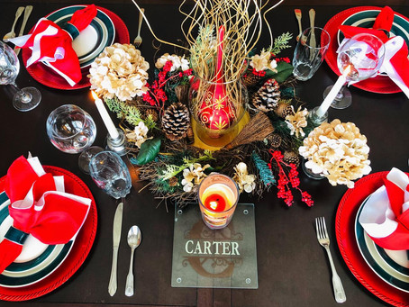 Holiday Table Design Tip!
