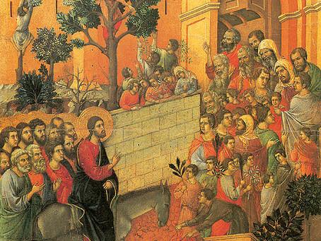 Dimanche des Rameaux. L'humble messianité de Jésus