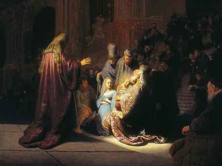 Tableau : Rembrandt, La présentation de Jésus au Temple