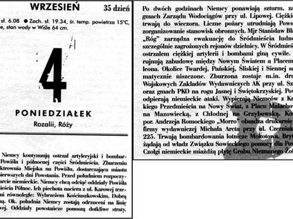 Kartka z kalendarza - dzień 35 i 36 - Powstanie Warszawskie