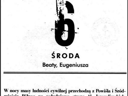 Kartka z kalendarza - dzień 37 i 38 - Powstanie Warszawskie