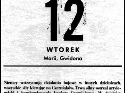 Kartka z kalendarza - dzień 43, 44 i 45  - Powstanie Warszawskie